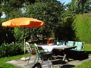 Ein Restaurant oder anderes Speiselokal in der Unterkunft Haus Christine Aigen Schlägl - Adalbert Stifter