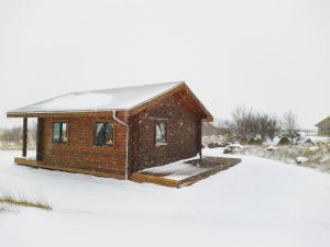 Hestasport Cottages during the winter