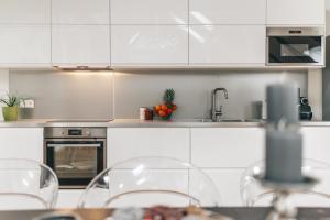Kuchyň nebo kuchyňský kout v ubytování Centrum Apartments Wenceslas square