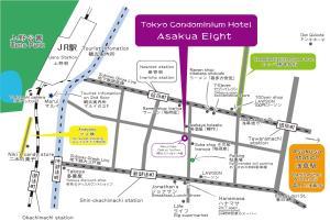 A bird's-eye view of Asakusa Eight -Tokyo Condominium Hotel-