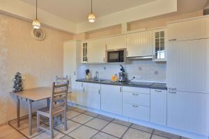 A kitchen or kitchenette at Apartment Romanovskie Na Krasnoy Polyane