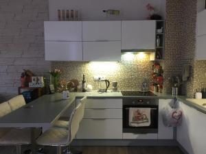 Kuchyňa alebo kuchynka v ubytovaní Luxury apartments in Prague