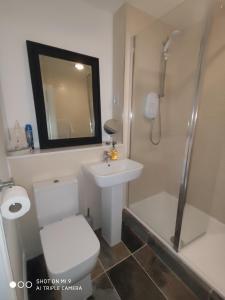A bathroom at Hydro Riverside Apartment