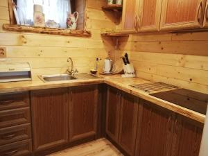 Kuchyňa alebo kuchynka v ubytovaní Chata 67