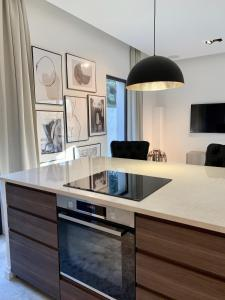 A kitchen or kitchenette at Luxury Home Sweet Home Mougins