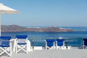 A balcony or terrace at Vallas Apartments & Villas
