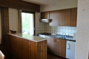 Küche/Küchenzeile in der Unterkunft Appartement Magrappé - 4 Vallées