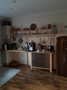 Küche/Küchenzeile in der Unterkunft Ferienwohnung Vogt