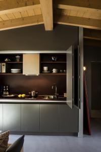 Küche/Küchenzeile in der Unterkunft Vivere Suites & Rooms