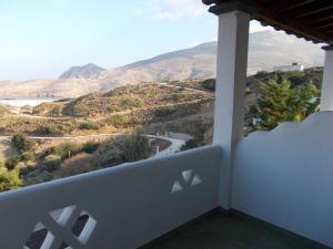 A balcony or terrace at Studios Marianna