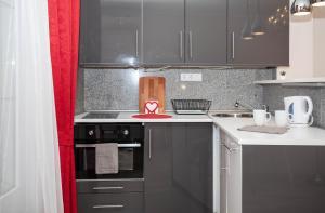 Küche/Küchenzeile in der Unterkunft Madach Rooftop Apartment with terrace