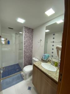 A bathroom at Flat no centro, Saint Moritz