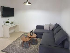אזור ישיבה ב-דירת נופש בוטיק - נוף לרבי שמעון