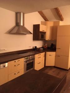Küche/Küchenzeile in der Unterkunft Kraftquelle Herrnmühle