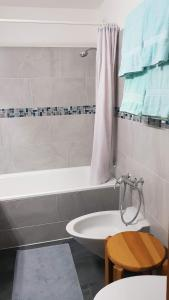 A bathroom at Ski holiday accomodation