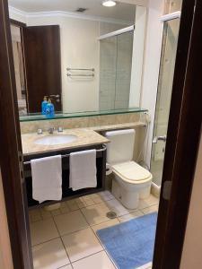 Um banheiro em CHARMOSO FLAT NA ALAMEDA SANTOS