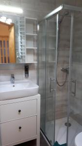 Ein Badezimmer in der Unterkunft Ferienwohnung Aronia Garten
