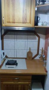 Küche/Küchenzeile in der Unterkunft teddy bear