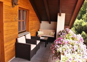 Ein Balkon oder eine Terrasse in der Unterkunft Appartement Penzkofer