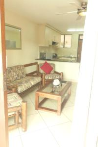 A seating area at Flamingo Lodge