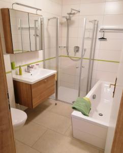 Ein Badezimmer in der Unterkunft Apartments Haus Morgensonne