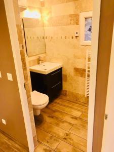 A bathroom at Le petit nid de chessy