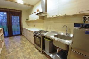 Virtuvė arba virtuvėlė apgyvendinimo įstaigoje Žvėrinčiaus vila