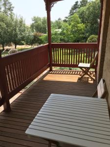 A balcony or terrace at Kit Kat Cottage - heritage accommodation Burra