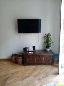 A television and/or entertainment center at Garbatella in love