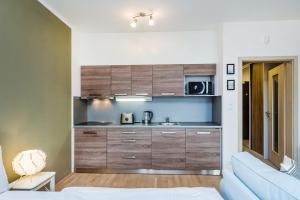 Küche/Küchenzeile in der Unterkunft REZIDENCE U VLTAVY
