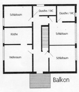 Grundriss der Unterkunft Landhaus Vieth