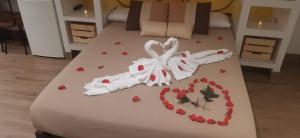 Cama o camas de una habitación en Casas Toya Jacuzzi