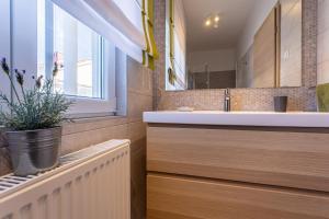 A bathroom at Pansion Tina