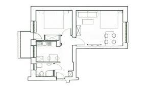 Grundriss der Unterkunft Katamaran Apartment