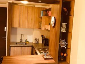 Una cocina o zona de cocina en Departamento Fesan Centro