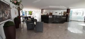 De lobby of receptie bij Turbo Club