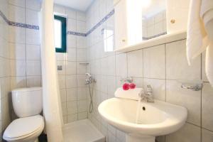 A bathroom at Aristea Apartments