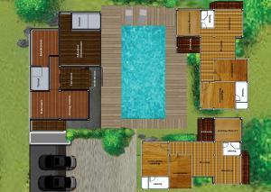 Grundriss der Unterkunft Irawan House