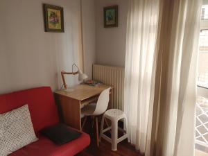 A seating area at Apartamento centro Santander