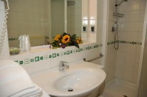 Koupelna v ubytování Aparthotel Albatros