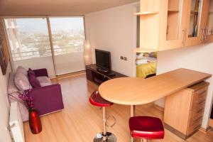 Zona de estar de Chilean Suites Providencia