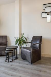 Een zitgedeelte bij Appartementen Parkzicht