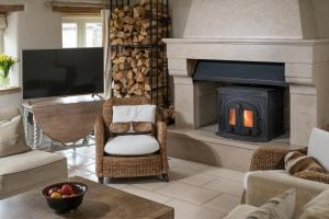 A seating area at Brittons Farm and Cottages, Hot Tub and Gym