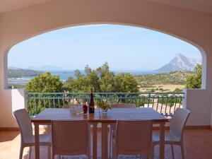 Een balkon of terras bij Residence Hotel Lu Nibareddu