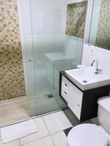 A bathroom at Garvey Flats