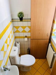 Koupelna v ubytování Apartmán Adam