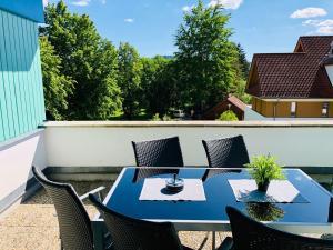 Balkón nebo terasa v ubytování Apartmán Adam