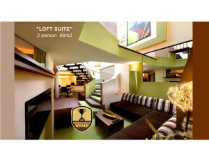 The lobby or reception area at Grütter Luxury Apartments