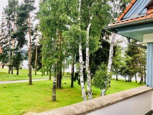 Zahrada ubytování Riviera Lipno nad Vltavou