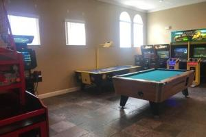 A billiards table at Townhome with hot tub and beautiful clubhouse